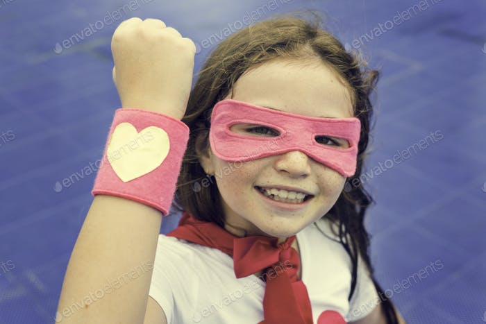 Superhero Cusome Girl Happiness Cute Concept