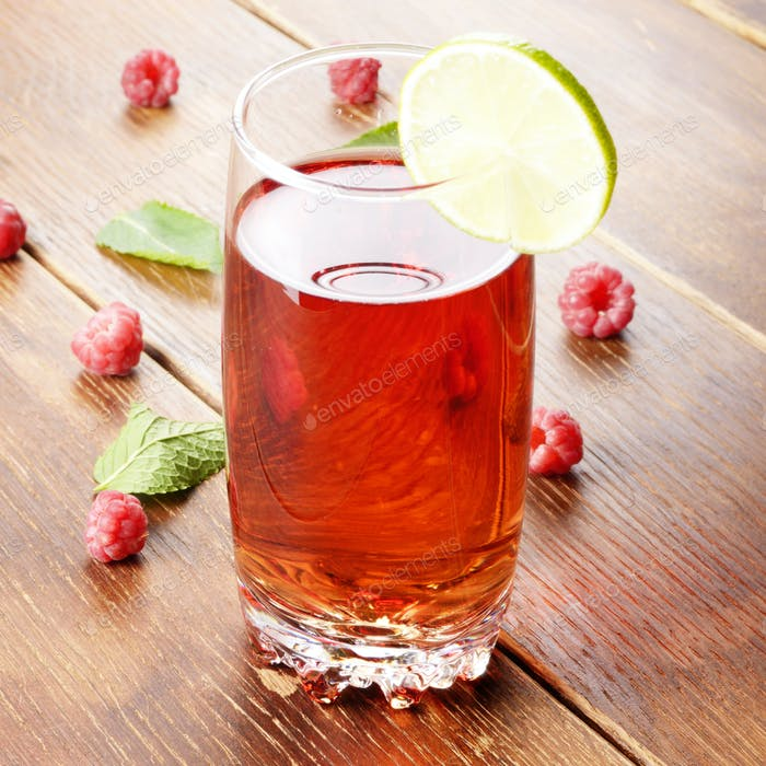 Lime and mint raspberry Fruit beer