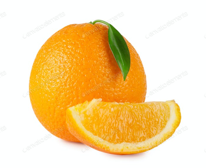 Ripe bright orange