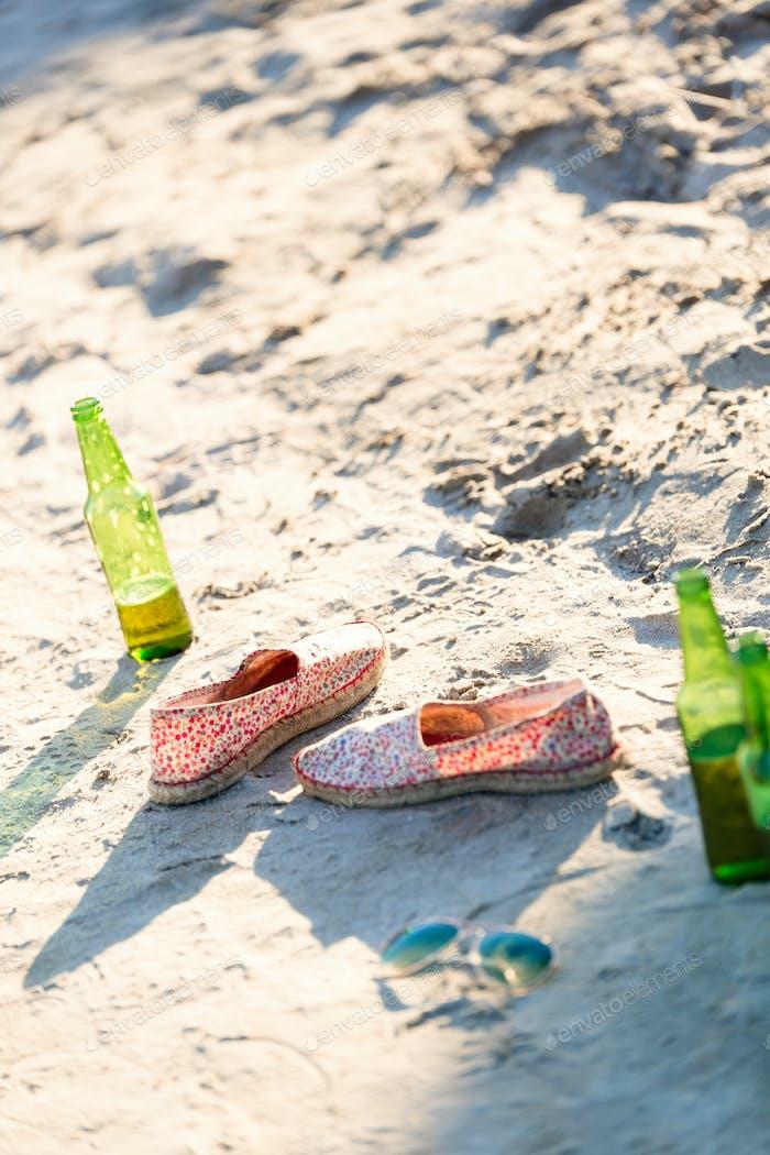 Sommerurlaub am Strand am Meer