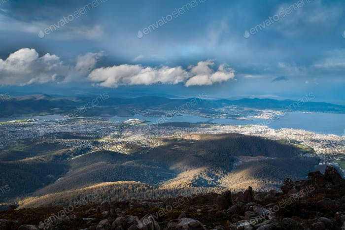 Hobart View from Mt Wellington
