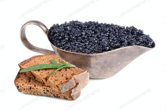 Caviar and bread