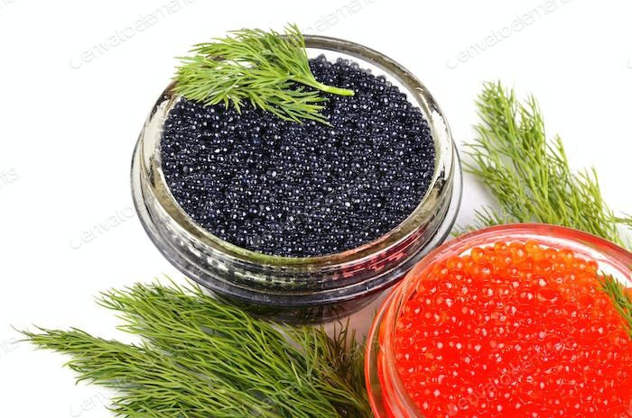 Caviar with dill