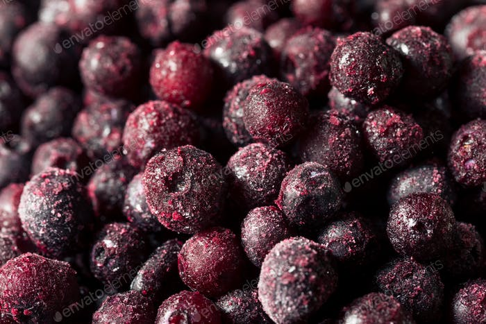 Refreshing Organic Frozen Blueberries