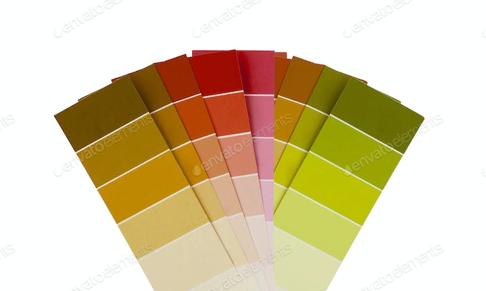 Plastic color Swatch isolated