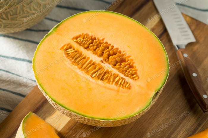 Raw Orange Organic Cantaloupe