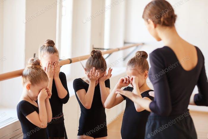 Pep talk in Ballet Class