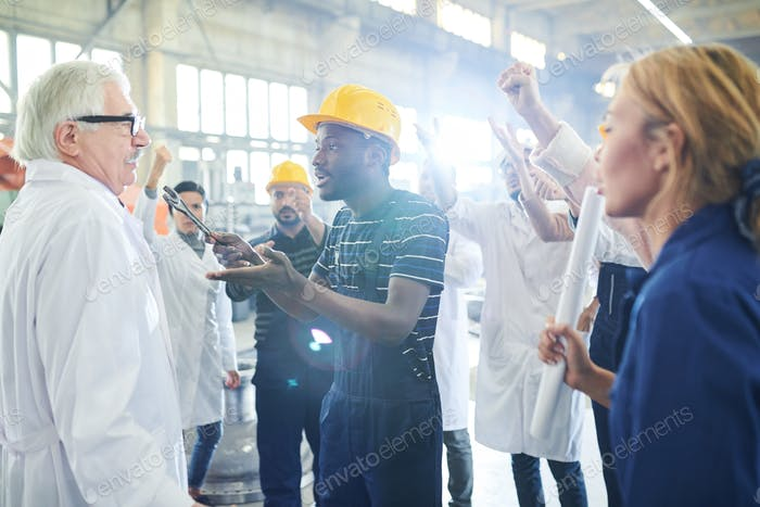 Angry Factory Worker Attacking Boss