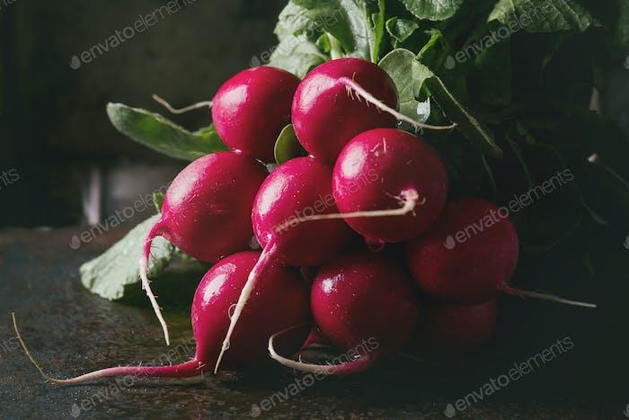 Fresh radish bundle