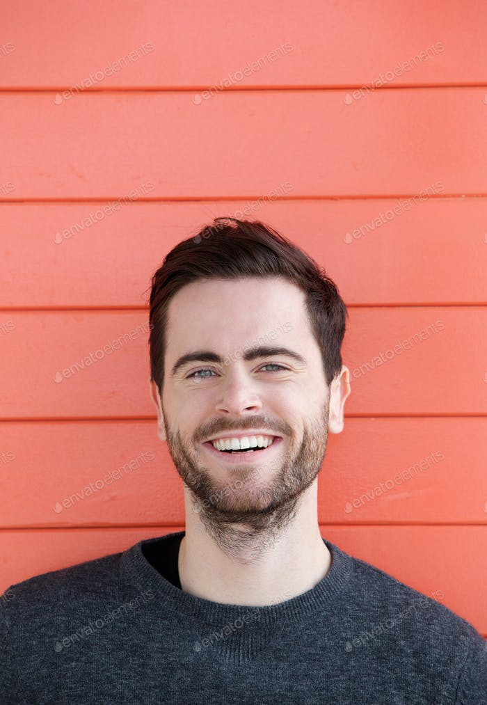 Friendly guy with beard smiling