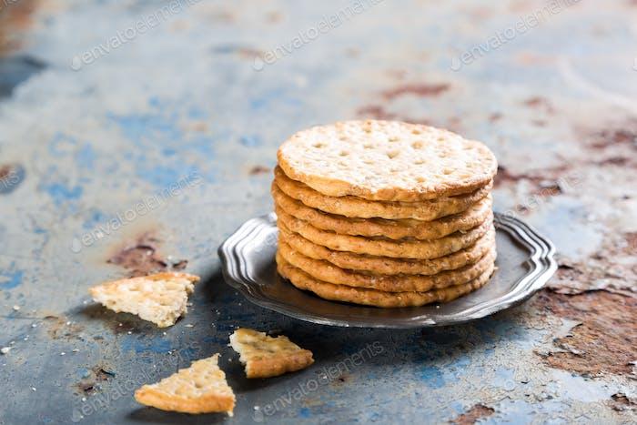Homemade shortbread cookies with quinoa