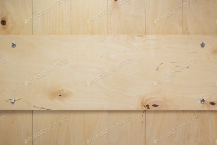 nameplate at wooden board plywood background