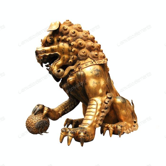 Statue des vergoldeten Löwen