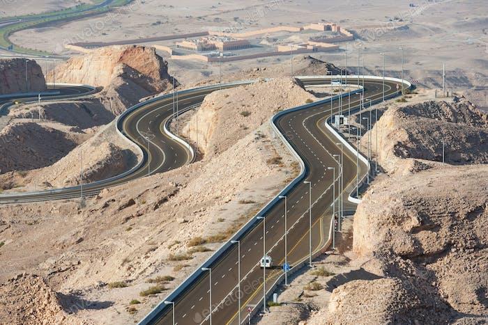 Jebel Hafeet Road in Al Ain