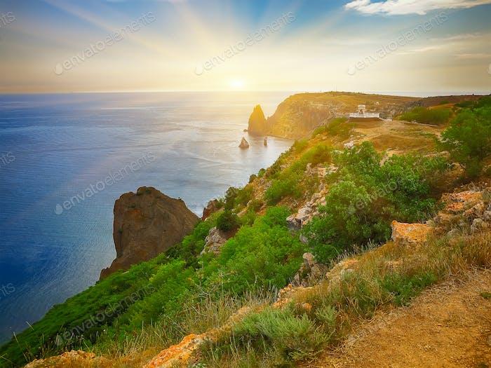 Die Küste am Kap Fiolent. Krim