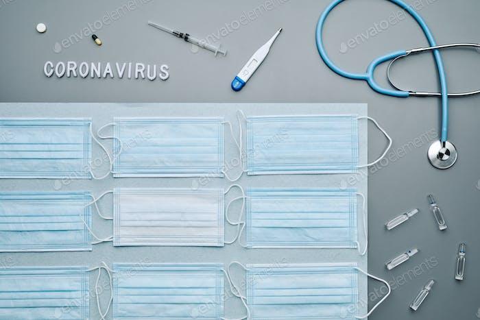 Coronavirus Flatlay