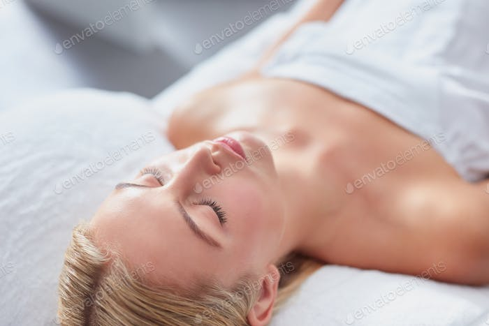 Attractive woman at dayspa for skin treatment