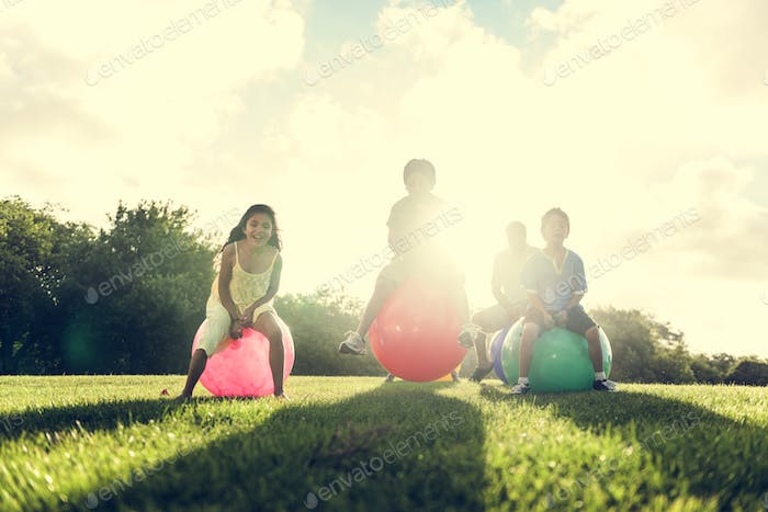 Ball Casual Cheerful Family Leisure Outdoor Concept
