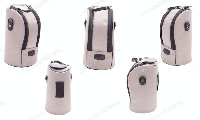 Kameratasche auf weißem Hintergrund isoliert