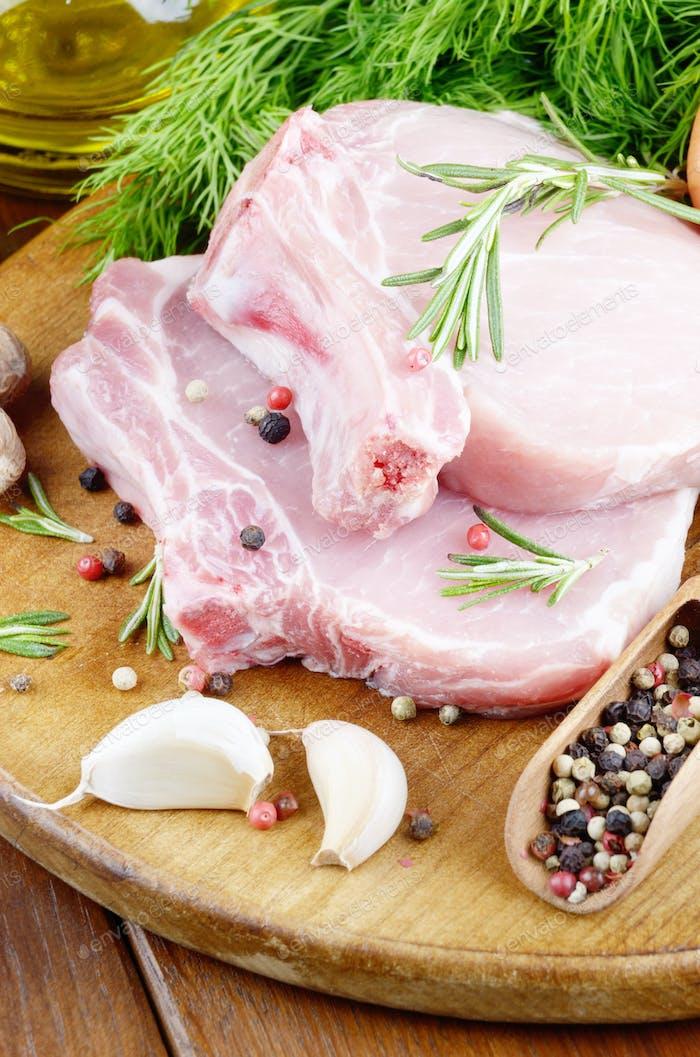 Schweinerippchen Koteletts