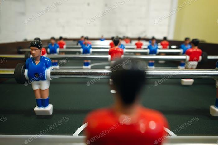 Toy goalkeeper, football, kicker