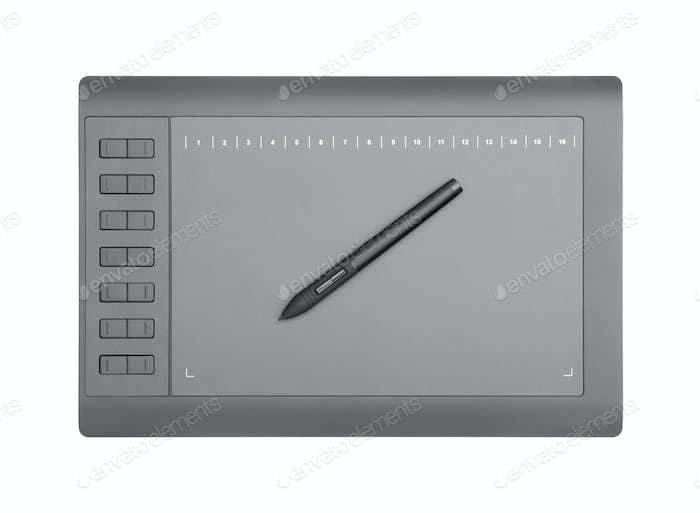 Graphic Tablet Isolated on White