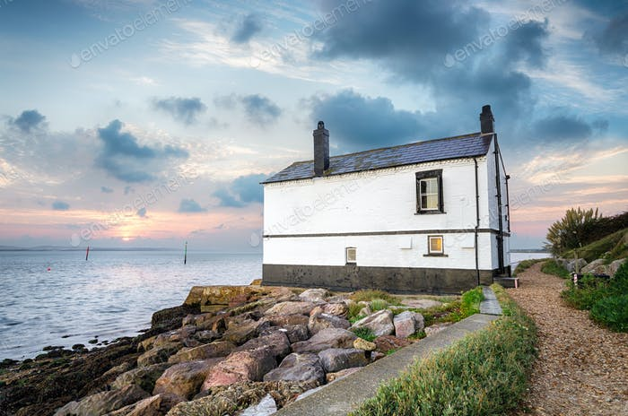 Cottage on the Sea Shore