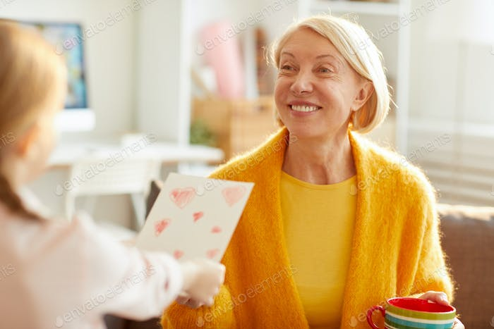 Happy Mother Receiving Card