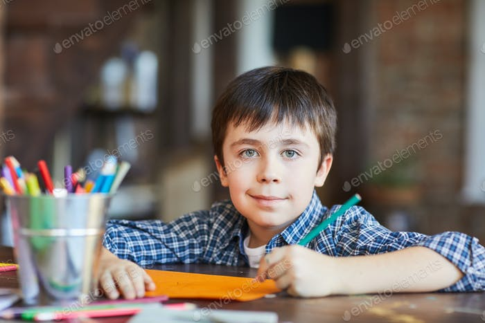 Boy Drawing Pictures