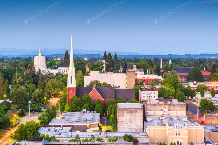 Salem, Oregon, USA downtown city skyline