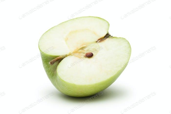 Rebanada de manzana verde fresca