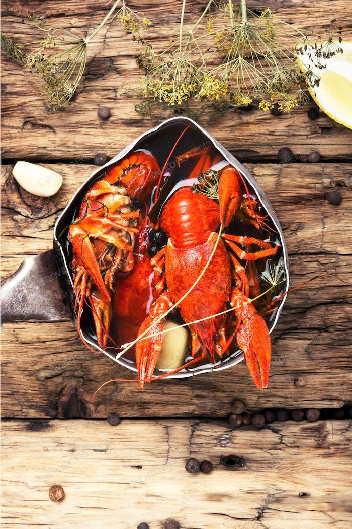 shellfish in the pan