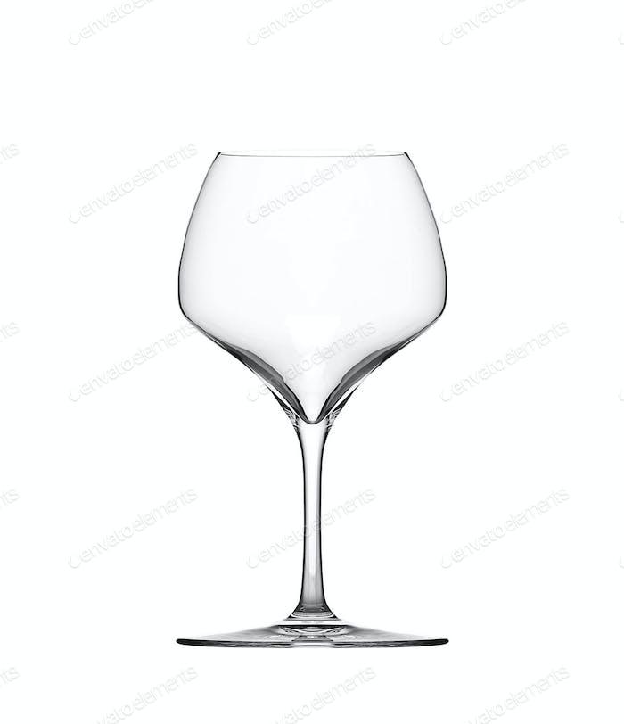 Leeres Weinglas. isoliert auf weißem Hintergrund