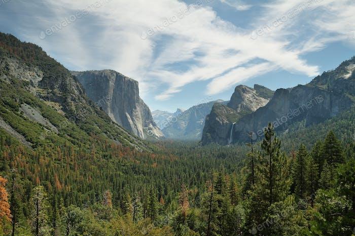 "Views of ""El Capitan"" and half Dome, Yosemite"