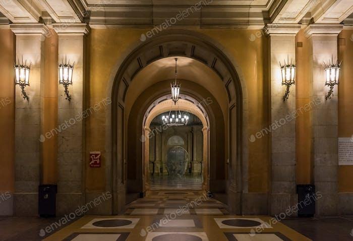 Entrance in Montserrat Monastery