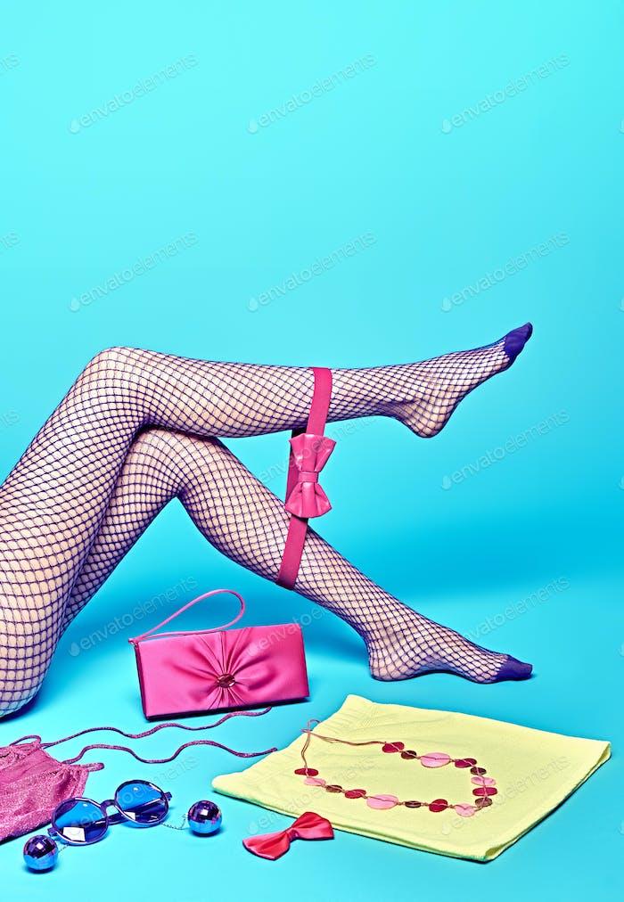 Ropa de moda elegante Kit, accesorios Mujer piernas