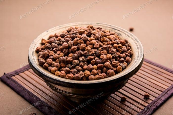 Schwarze Kichererbse oder Kala oder Braun Chana