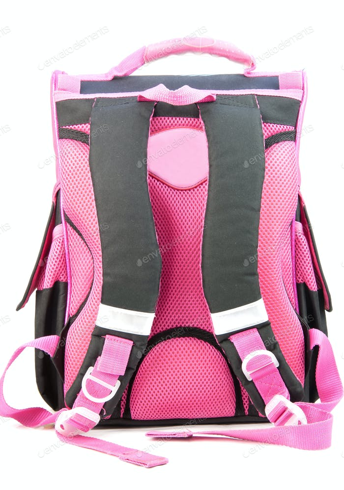 pink school backpack