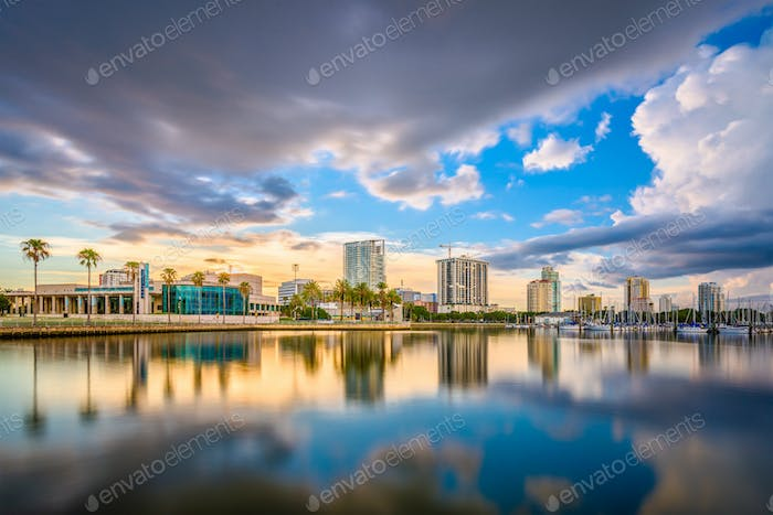 St. Petersburg, Florida, USA Skyline