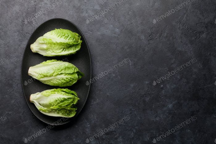 Mini romaine lettuce salad