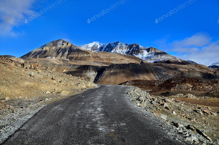 Road in Himalayas mountains