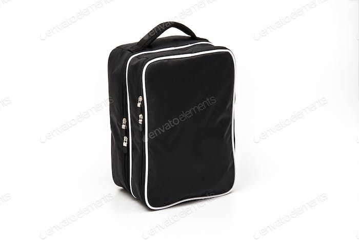 Golf black shoe bag on white background