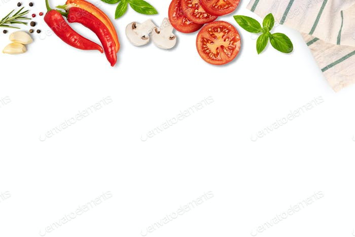 Food background with free space for text