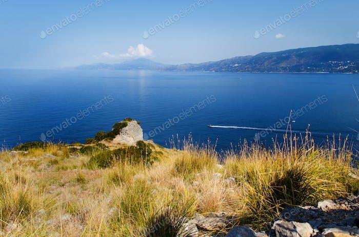 Panoramic view near Palinuro in Campania, ITaly