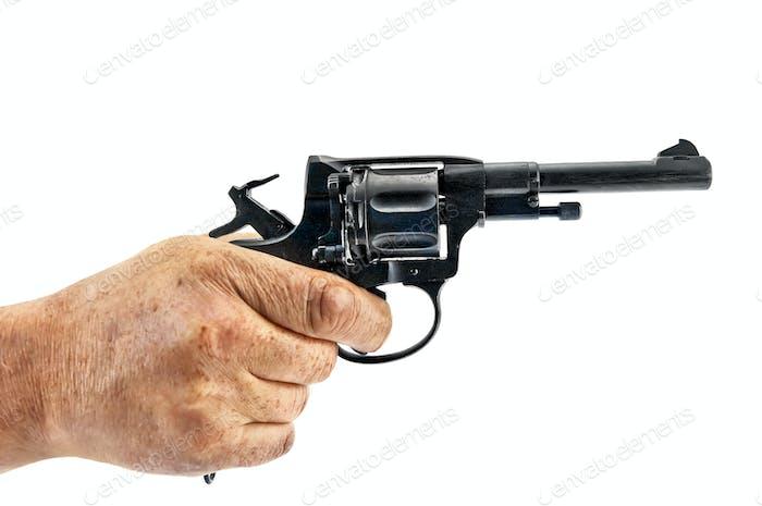 Revolver in der Hand