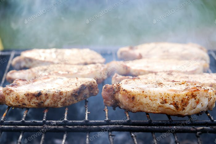 Outdoor. Delicious barbeque