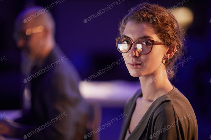 Young Woman In Eyeglasses Portrait