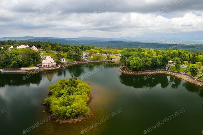 The Ganga Talao Temple in Grand bassin, Savanne, Mauritius