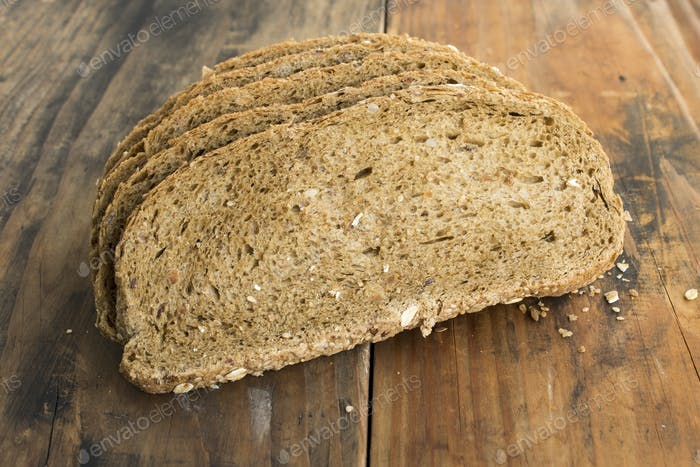 Wholegrain Bread from Whole Wheat, Rye and Flax Seeds