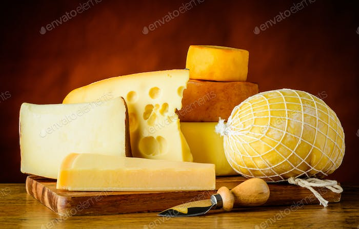 Cheese Types in Still Life